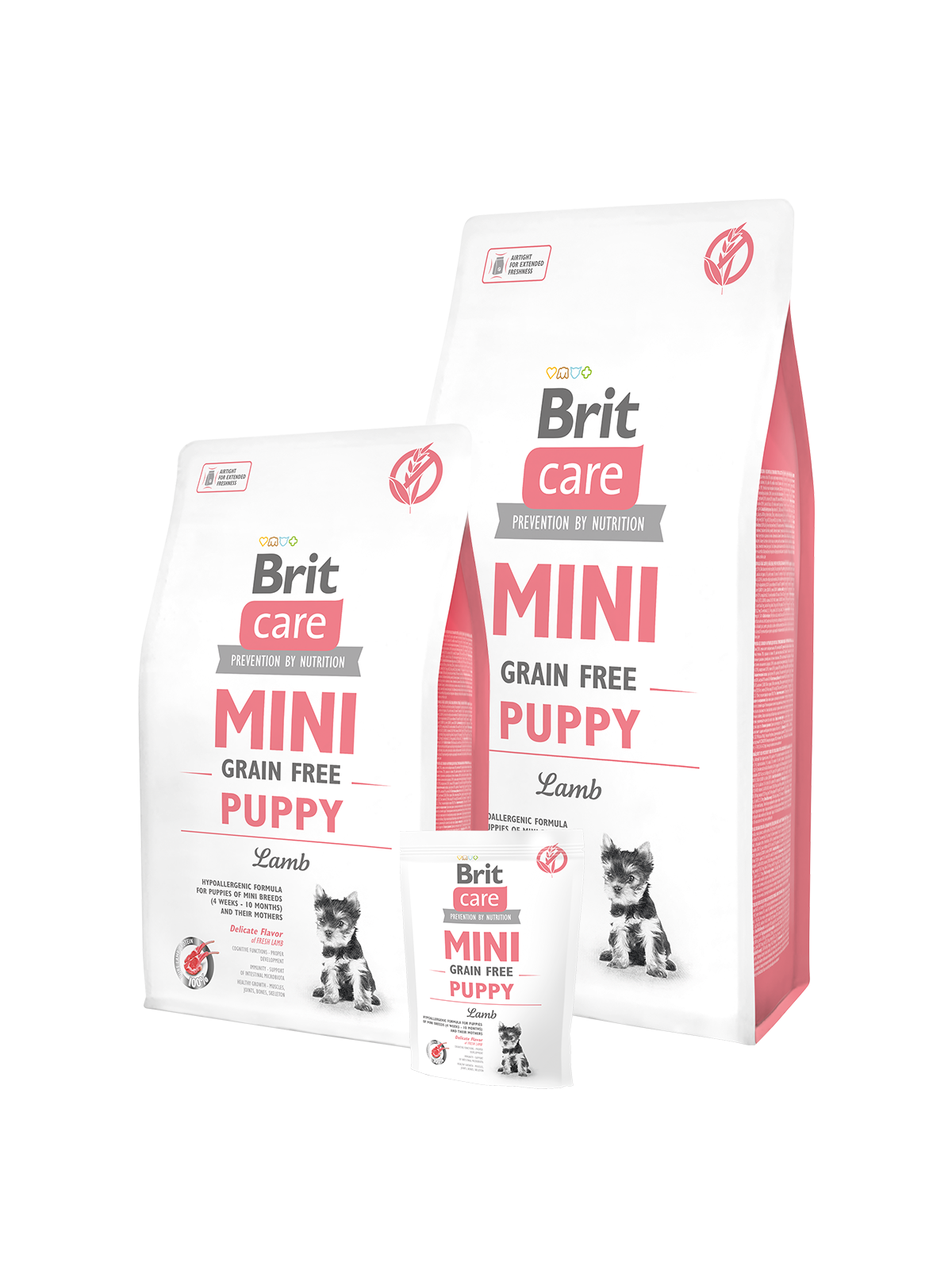 brit care mini grain free puppy lamb