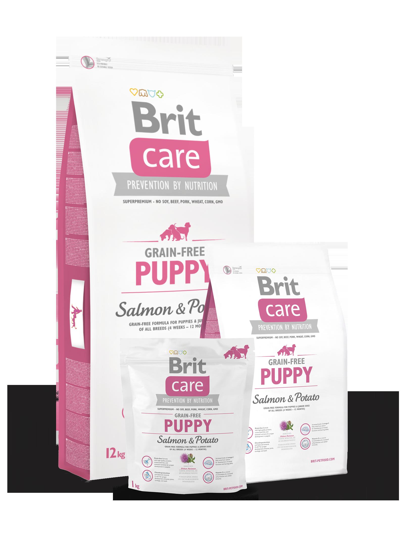brit care grain-free puppy salmon & potato – brit